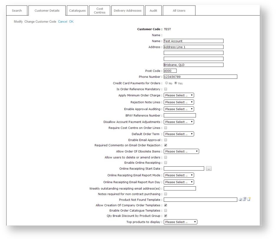 Customer Maintenance - Commerce Vision Documentation - CV