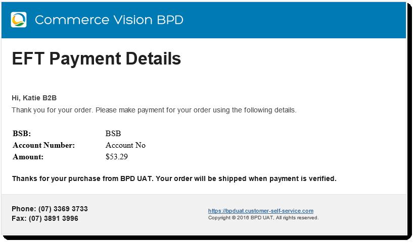 eft payment detail widget